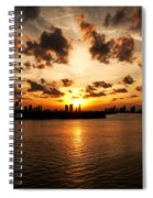 Miami Skyline Sunset Spiral Notebook