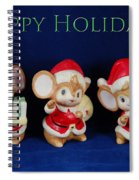 Mice Holiday Spiral Notebook