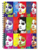 Michael Jackson Andy Warhol Style Spiral Notebook