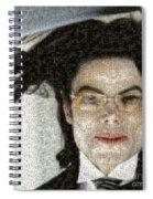 Michael Jackson - Fly Away Hair Mosaic Spiral Notebook