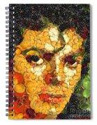 Michael Jackson In The Way Of Arcimboldo Spiral Notebook