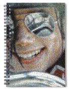 Michael Jackson - Mosaic Spiral Notebook