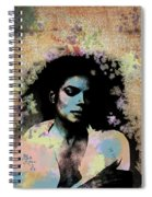 Michael Jackson - Scatter Watercolor Spiral Notebook