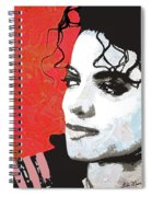 Michael Red And White Spiral Notebook