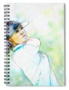 Michelle Wie Hits Her Tee Shot On The Sixth Hole Spiral Notebook