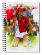 Michelle Wie Of The Usa Solhiem Cup Reacts After Missing A Putt Spiral Notebook