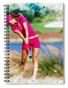 Michelle Wie Plays A Shot On The 6th Hole Spiral Notebook