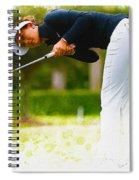 Michelle Wie  Putt On The Tenth Green Spiral Notebook
