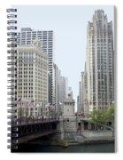Michigan Ave Dusable Bridge Spiral Notebook