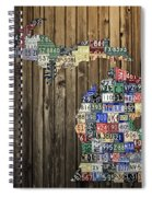 Michigan Counties State License Plate Map Spiral Notebook