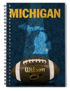 Michigan Football Poster Spiral Notebook