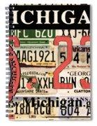 Michigan License Plate Spiral Notebook