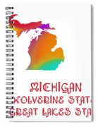 Michigan State Map Collection 2 Spiral Notebook