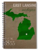 Michigan State University Spartans East Lansing College Town State Map Poster Series No 004 Spiral Notebook