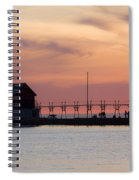 Michigan Sunset Spiral Notebook