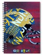 Michigan Wolverines College Football Helmet Vintage License Plate Art Spiral Notebook