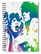 Mick Jagger And Keith Richards Spiral Notebook