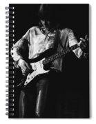 Mick Playing Rock Guitar In 1977 Spiral Notebook