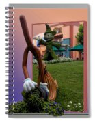 Mickey And Broom Floral Walt Disney World Hollywood Studios Spiral Notebook