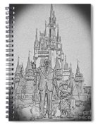 Mickey And Walt At The Park Spiral Notebook