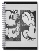Mickey In Black And White Spiral Notebook