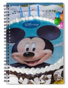 Mickey Mouse Cake Spiral Notebook
