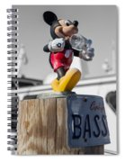 Mickey On A Post Spiral Notebook