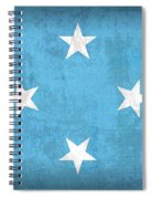 Micronesia Flag Vintage Distressed Finish Spiral Notebook