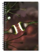Microscopic Image Of Brain Neurons Spiral Notebook