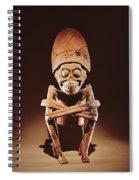 Mictlantecuhtli Lord Of Mictlan Remojadas Style, From Los Cerros, Tierra Blanca, Vera Cruz Pottery Spiral Notebook
