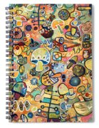 Mid Century Mushroom Madness Spiral Notebook