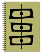 Mid Century Shapes On Avocado Spiral Notebook