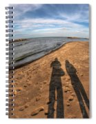 Mid Dec Day At The Beach...who Can Argue At Presque Isle State Park Series Spiral Notebook