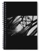Mid Span  In Black And White Spiral Notebook