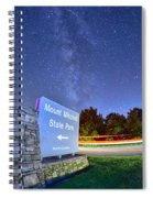 Midnight At Mount Mitchell Entrance Sign Spiral Notebook