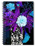 Midnight Callas And Orchids Abstract Spiral Notebook