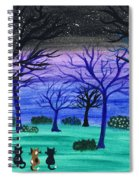 Midnight Cat Gathering Spiral Notebook