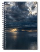 Midnight Clouds Over The Water Spiral Notebook