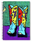 Midnight Cowboy Boots Spiral Notebook
