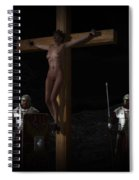 Midnight Crucifixion Spiral Notebook