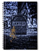 Midnight In The Graveyard With A Lawyer Spiral Notebook