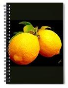 Midnight Lemons Spiral Notebook