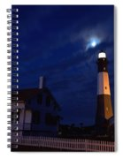 Midnight Moon Over Tybee Island Spiral Notebook
