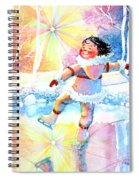 Midnight Sun Skating Fun Spiral Notebook