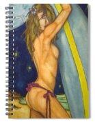 Midnight Surfer Spiral Notebook