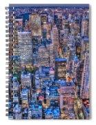 Midtown Manhattan Skyline Spiral Notebook