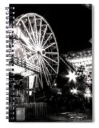 Midway Attractions In Black And White Spiral Notebook