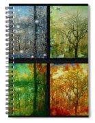 Midwest Seasons Collage Spiral Notebook