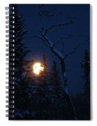 Midwinter Moonrise Spiral Notebook