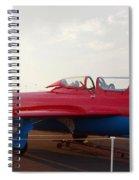 Mig Trainer Jet Spiral Notebook